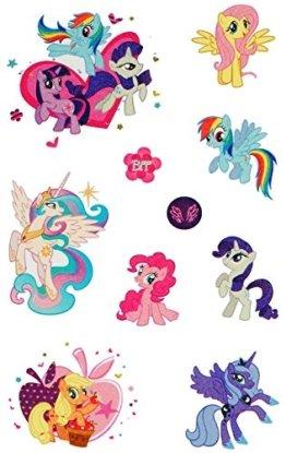 """10 tlg. Set: Haut Tattoo - """" My little Pony """" - Mädchen für Kinder - Tattoos Hauttattoo - Ponys Einhörner - Aufkleber Sticker - Erwachsene - Kindertattoos - Einhorn Pferde -"""