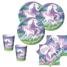 48 Teile Einhorn Geburtstags Party Deko Set für 16 Kinder -