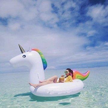 Aufblasbare Einhorn-Riesige aufblasbare reitbar Pool Schwimmen, Premium-Qualität und große Größe PVC schweben -