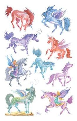 Avery Zweckform 53148 Kinder Sticker, Einhörner, 18 Aufkleber -