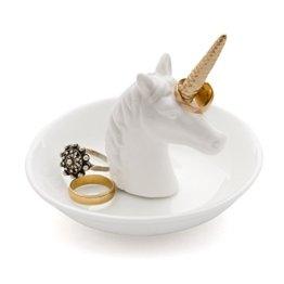 Balvi - Unicorn Ringhalter aus Keramik. Ablagefläche für Ringe und Schmuck. Aus Keramik hergestellt. Form eines Einhorns. -