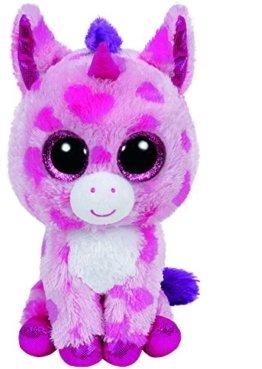 Carletto Ty 36175 - Sugar Pie - Einhorn pink, 15 cm, mit Glitzeraugen, Glubschi's, Beanie Boo's, Valentin limitiert -