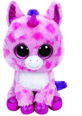 Carletto Ty 37050 - Sugar Pie - Einhorn pink, Large 24 cm, mit Glitzeraugen, Glubschi's, Beanie Boo's, Valentin limitiert -