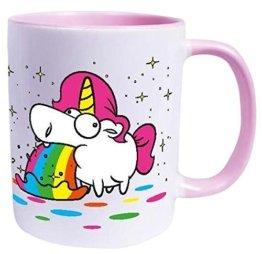 Einhorn Kotzendes Einhorn - Regenbogen Tasse weiß/rosa -