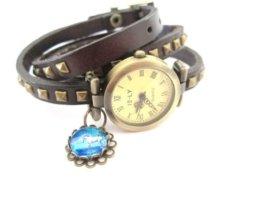 Einhorn Wickel- Leder Armbanduhr -