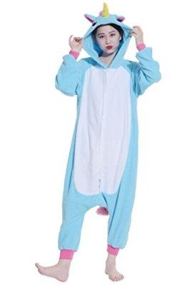 Fandecie Tier Cosplay Pyjama Nachtwäsche Nachtwäsche Lounge Einhorn Medium Geeignet für 160-175cm Höhe -