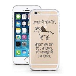iPhone 5 5S SE Hülle von licaso® für das Apple iPhone 5-SE aus TPU Silikon Be Yourself Unicorn Einhörner Einhorn Märchen Muster ultra-dünn schützt Dein iPhone 5S & ist stylisch Schutzhülle Bumper in einem (iPhone 5 5S SE, Be a Unicorn) -