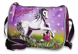 Kleine - Einhorn / Unicorn - Schultertasche / Handtasche / Tasche + 16 Pferde Sticker - Kinder Umhängetasche -