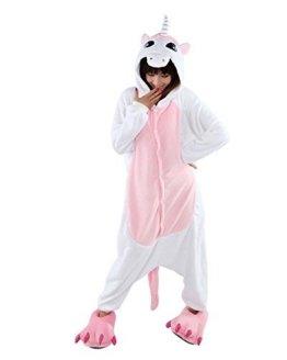 LATH.PIN Jumpsuit Tier Karton Fasching Halloween Kostüm Sleepsuit Cosplay Fleece-Overall Pyjama Schlafanzug Tier Onesize -