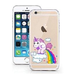 """licaso® iPhone 5S 5 SE 4"""" TPU Einhorn Wolke Hülle Sketch Unicorn Einhörner Case transparent klare Schutzhülle Disney Hülle iphone5 Tasche Cover (iPhone 5 5S SE, Einhorn Wolke) -"""