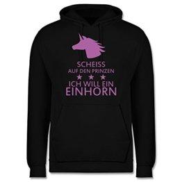 Nerds & Geeks - Einhorn - Scheiss auf den Prinzen ich will ein Einhorn - S - Schwarz - JH001 - Männer Premium Kapuzenpullover / Hoodie -