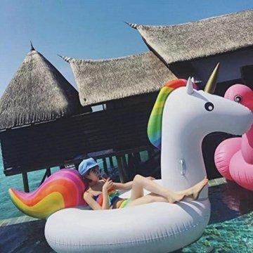 Ocean star®Aufblasbare Einhorn - Pool Schwimmen,Aufblasbare Spielzeug Mit Schnellen Ventilen Schweben -