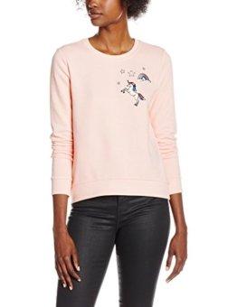 ONLY Damen Pullover Onllove ME L/S Unicorn Swt, Rosa (Peach Whip), Small (Herstellergröße: S) -