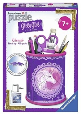 Ravensburger 12074 - 3D Puzzle Girly Girl Edition Utensilo Einhörner -