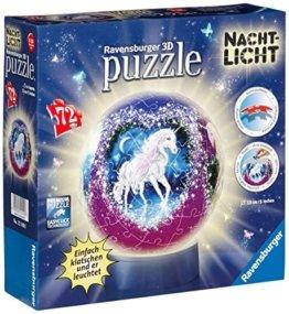 Ravensburger 12149 - Einhörner - Nachtlicht puzzleball, 72 Teile -