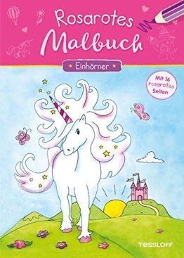Rosarotes Malbuch. Einhörner: Mit 16 rosaroten Seiten! (Malbücher und -blöcke) -