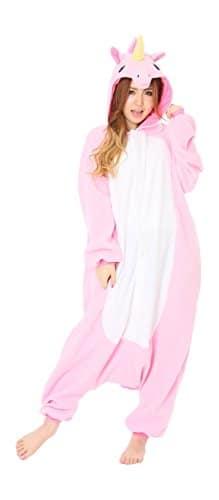 SAMGU Einhorn Adult Pyjama Cosplay Tier Onesie Body Nachtwäsche Kleid overall Animal Sleepwear Erwachsene Größe S -