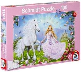 Schmidt Spiele 55565 - Prinzessin der Einhörner, 100 Teile Puzzle -