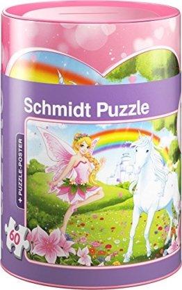Schmidt Spiele 56915 Einhorn Puzzles in Spardose, 60 Teile -
