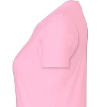 Statement Shirts - Königin der Einhörner - S - Rosa - L191 - tailliertes Premium T-Shirt mit Rundhalsausschnitt für Damen -