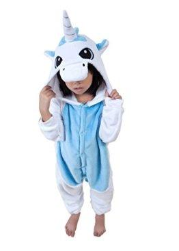 UDreamTime Kinder Homewear Anime Sleepsuit Tier Pyjamas Cosplay Kostüme Blaues Einhorn M -