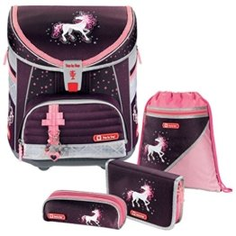 Unicorn Einhorn Pferd LIGHT Schulranzen-Set 4 tlg. Step by Step Hama -