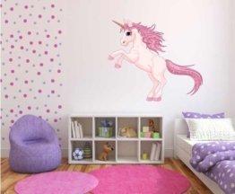 Wandtattoo, Einhorn-Motiv, für Kinderzimmer / Mädchen, in Farbe L -