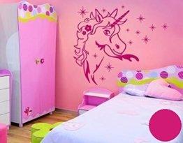 Wandtattoo Zauber Einhorn B x H: 40cm x 45cm Farbe: pink (erhältlich in 35 Farben und 5 Größen) -