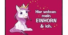 Fußmatte Mein Einhorn & ich B x H: 70cm x 50cm von Klebefieber® -