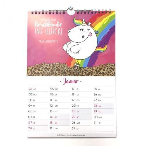 Einhorn Kalender
