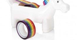 Einhorn Klebebandabroller - Unicorn Abroller Regenbogen by alltoshop® -