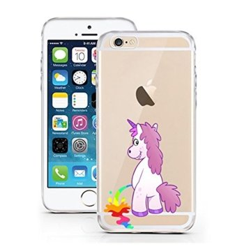 "licaso® Hülle für iPhone 6 6S 4,7"" TPU Einhorn PiPi Bunt iPhone 6 Case transparent Sketch klare Einhörner Schutzhülle iphone6 Tasche iPhone 6 Hülle Comic Hülle Unicorn Cases -"
