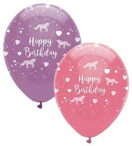 24 Geburtstags Luftballons Einhorn -