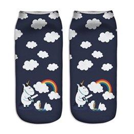 Colorfulwrold Einhorn Socken Kinder Socks Mädchen Cartoon Füßlinge Cute Einhörnern Sockenbund Strümpfe (06) -
