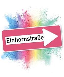 Einhhorn Schild - Einhornstraße PLAIN (40 x 15cm)   Süße Wand-Deko, Türschild für Mädels-Wohnung & Mädchen-Zimmer   Geschenkidee Einweihungsparty & Geburtstags-Geschenk   Lustige Überraschung - beste Freundin -