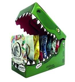 einhorn Kondome - Geschenk Special - Super Dino - 63 Stück - vegan + 2 schlüpfrige Stempel und Stickerbogen -