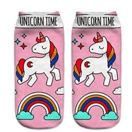 Lalang 1 Paar Mädchen Cartoon Einhorn Socken Sport Strümpfe Füßlinge Bunt Socken (10#) -