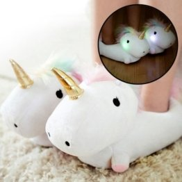 Leuchtende Einhorn Pantoffeln durch Smoko (Importiert) - Unicorn Light Up Slippers by Smoko -