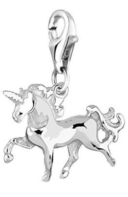 Nenalina Charm Einhorn Anhänger in 925 Sterling Silber für alle gängigen Charmträger 713132-000 -