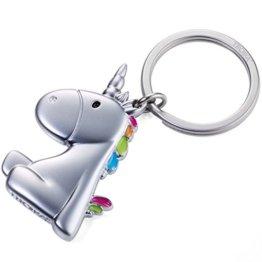 TROIKA UNICORN - KR17-08/MA - Schlüsselanhänger - Einhorn - Unicorn - es ist so flauschig - Agnes - Metallguss - niedlich - mehrfarbig - das ORIGINAL von TROIKA -