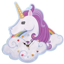 Wanduhr UNICORN in Einhornform -