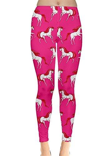 CowCow Damen Leggings Blau Hellblau Gr. X-Small, Hot Pink -