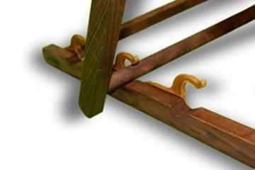 Einhorn mit großen Augen - Liegestuhl bedruckt Balkon Garten Sonnenliege Relax Holz Terrasse, Variante:mit Armlehne. Natur -
