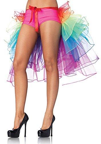 FENTI Regenbogen Multicoloure Tute Roeckchen Ballett-Tanz-Rueschen Layered Tiered Kleid Rock -
