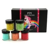 Hallingers Badesalz Mix Einhorn I love Unicorn | Set/Mix | 5x Miniglas in MiniDeluxe-Box | 175g -