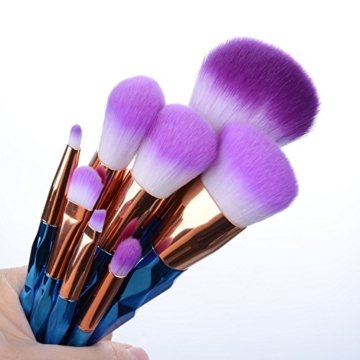 Make-up-Pinsel, YUMUN® 8pcs Einhorn Regenbogen Makeup Bürsten Pinsel Schminkpinsel Kosmetikpinsel Make Up Pinsel Kosmetik Set Beauty-Geschenke zum Muttertag -