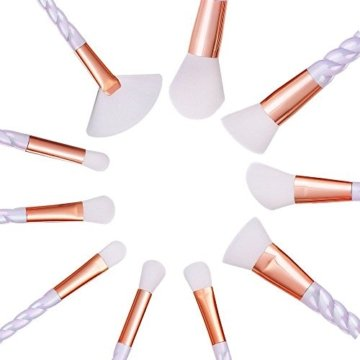 Make-up-Pinsel,YUMUN®10pcs Art und Weise Einhorn-Entwurfs-Handgriff-Form bilden Bürsten für Grundlage-Augenbraue-Eyeliner kosmetische Concealer Verfassungs-Bürsten-Satz Mit Fall-Tasche -