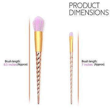 Qivange Makeup Pinselset Einhorn Schminkpinsel Foundation Lidschatten Blending Pinsel Pulver Concealer Kontour fächerförmige Pinselset (10pcs, Gold) -