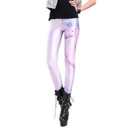 Sexy Stretch bedruckte Leggings mit Einhorn Motiv standard S/M -