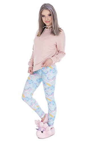 TRVPPY Leggings Gym Workout Sports Wear Hose Yoga Pants Training Fitness Print, Modell Unicorn Clouds Einhorn -